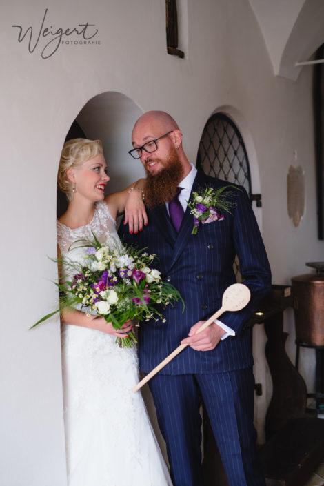 Brautpaarshooting Indoor Kirche